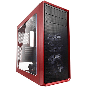 Fractal Design Focus G Midi Tower Negro, Rojo