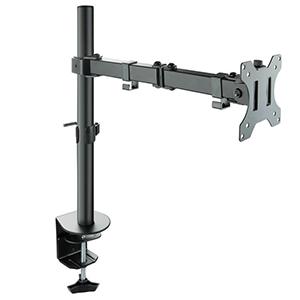 "TooQ Soporte de Mesa Giratorio e Inclinable para Pantalla (Monitor / TV Plasma / LCD / LED) 13""-32"", de Un Brazo, max 8 kg, Neg"