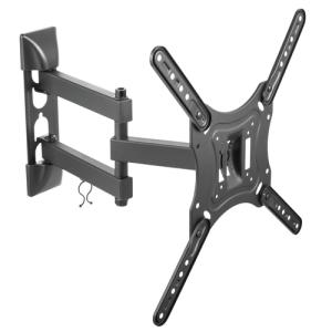 """TooQ Soporte Giratorio e Inclinable para Monitor / TV LCD, Plasma de 23""""- 55"""", con Tres Pivotes, Negro"""