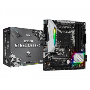 Asrock B450M Steel Legend Zócalo AM4 Micro ATX AMD B450