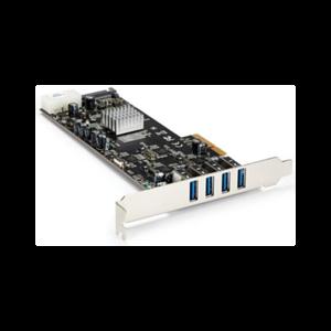 StarTech.com Adaptador Tarjeta PCI Express PCI-E 4 Puertos USB 3.0 UASP 2 Canales de 5Gbps con Alimentación Molex SATA