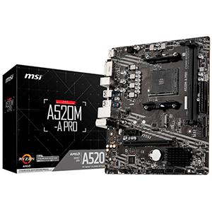 PLACA MSI A520M-A PRO,AMD,AM4,A520,MATX