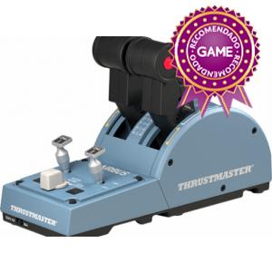 Thrustmaster TCA Quadrant Airbus Edition Simulador de Vuelo PC Negro, Azul