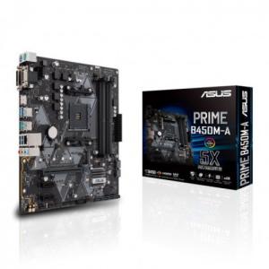 PLACA ASUS PRIME B450M-A II,AMD,AM4,B450,4DDR4,64GB,VGA DVI HDMI,GBLAN,4SATA3,1XM2,6USB31,MATX