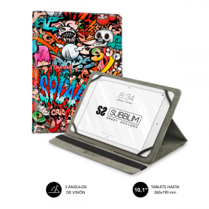 SUBBLIM Funda Tablet Universal TRENDY CASE GRAFFITI 10.1""