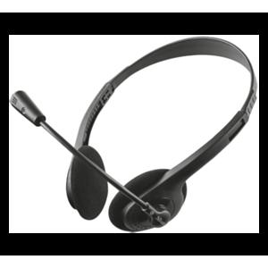 Trust ZIVA CHAT HEADSET Auriculares Diadema Negro