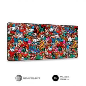 SUBBLIM Alfombrilla Ratón Graffiti XL Mouse Pad