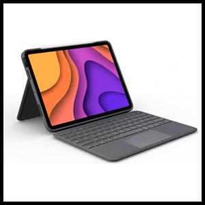 Logitech Folio Touch QWERTY Español Gris Smart Connector