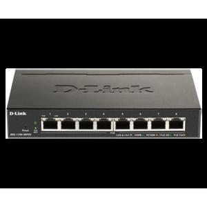 D-Link DGS-1100-08PV2 switch Gestionado L2/L3 Gigabit Ethernet (10/100/1000) Energía sobre Ethernet (PoE) Negro
