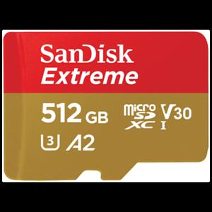 SanDisk Extreme memoria flash 512 GB MicroSDXC UHS-I Clase 10