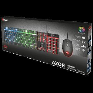 Trust GXT 838 Azor Gaming Combo teclado USB QWERTY Portugués Negro