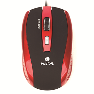 NGS Red Tick USB tipo A Optico 800DPI - Raton