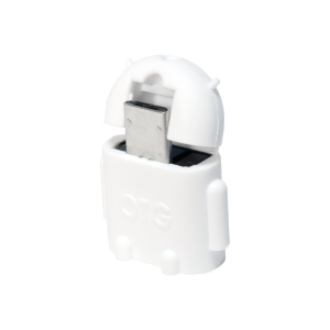 LogiLink AA0063 cable gender changer Micro-USB-OTG USB 2.0 Blanco