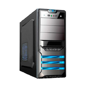 L-Link LEONIS carcasa de ordenador Tower Negro 500 W