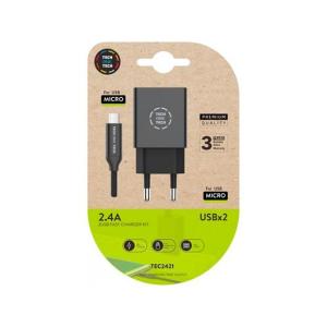 Tech One Tech Doble + Cable Micro USB - Cargador