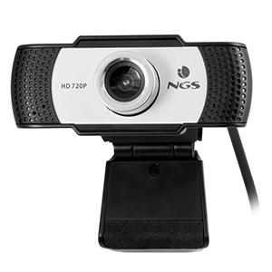 NGS XpressCam720 cámara web 1280 x 720 Pixeles USB 2.0 Negro, Gris, Plata