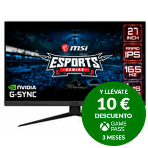 "MSI Optix G273QF 68,6 cm (27"") 2560 x 1440 Pixeles Quad HD LCD Negro"