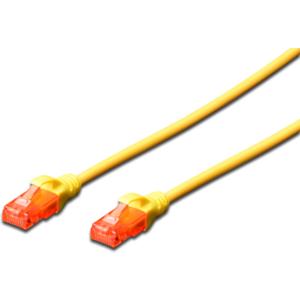 Ewent EW-6U-050 5m Cat6 U/UTP (UTP) Amarillo - Cable Red