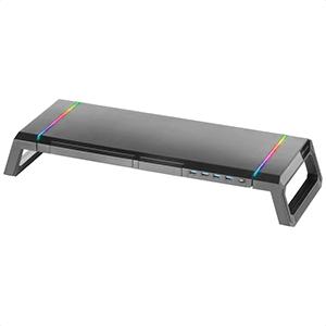 Mars Gaming MGS Soporte Monitor RGB Chroma USB Longitud Ajustable