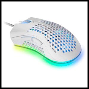 Mars Gaming MMEXW, Ratón Gaming RGB Ultraligero Blanco