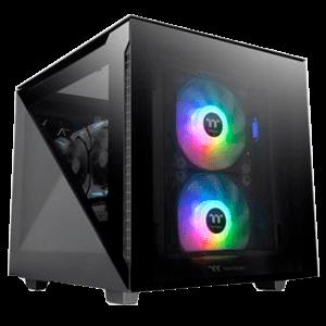 Thermaltake Divider 200 TG Micro ATX Negro - Caja Ordenador