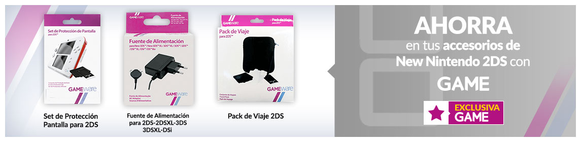 Accesorios Nintendo 2DS GAMEware