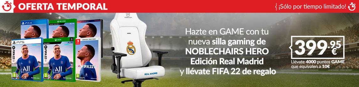 ¡Oferta! Silla Noblechairs Real Madrid + FIFA 22