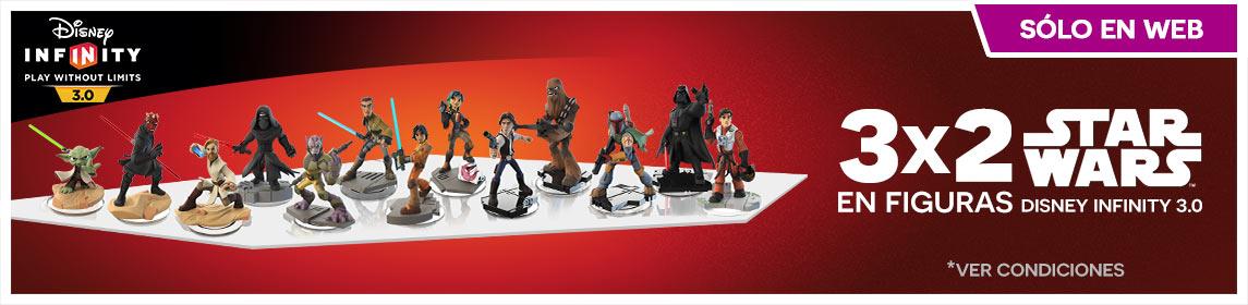 3x2 Figuras Disney Infinity 3.0 Star Wars