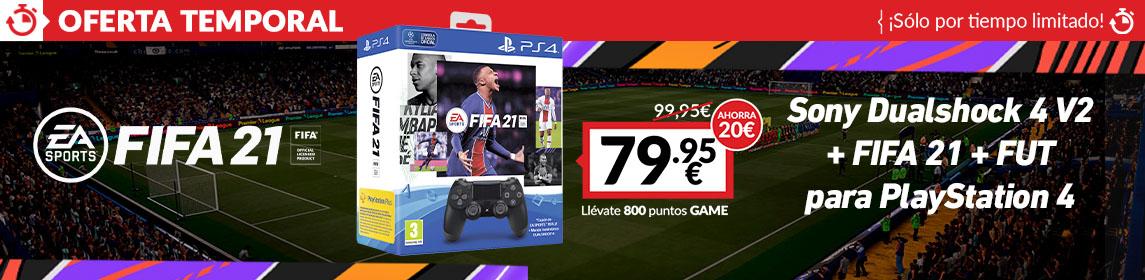 ¡Oferta! Dualshock 4 + FIFA 21