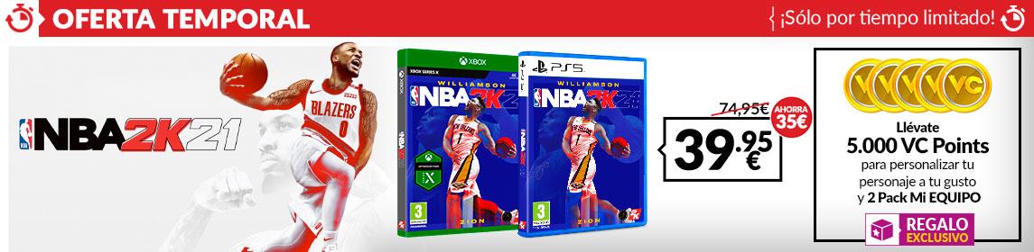 ¡Oferta! NBA 2K21 por 39,95€