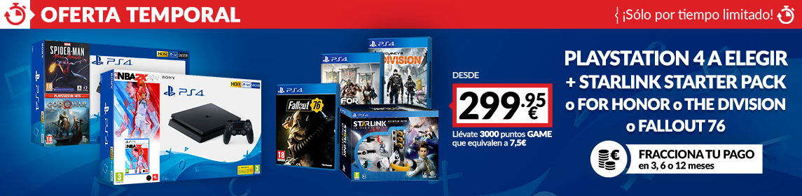 ¡Oferta! Packs PS4 + juego