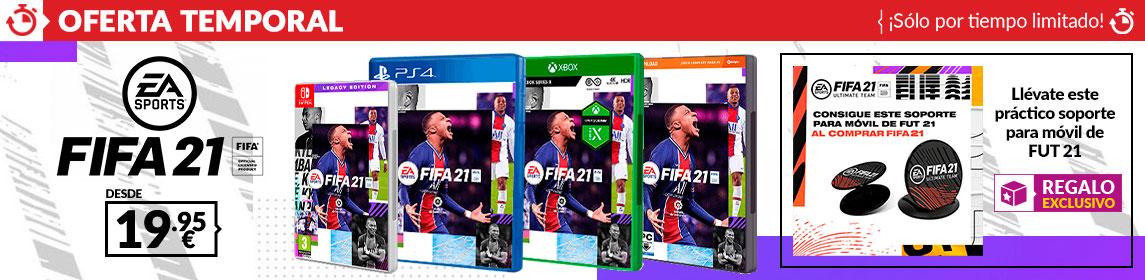 ¡Oferta! FIFA 21 + soporte móvil