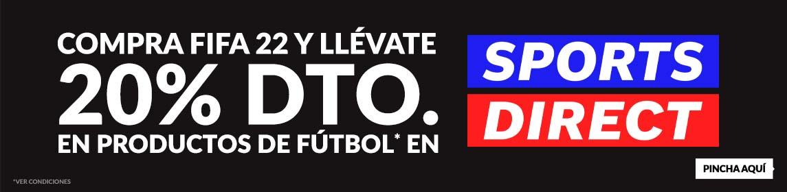 FIFA 22 + cupón 20% Dto. Sports Direct