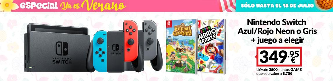 ¡Verano de GAME! Nintendo Switch + Juego