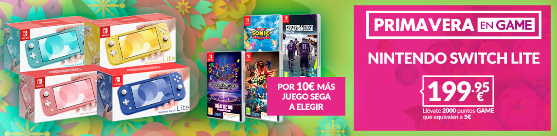 ¡Primavera GAME! Nintendo Lite 199,95€