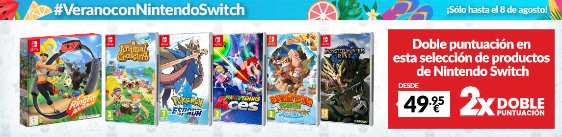 ¡Verano Nintendo! X2 Puntos GAME juegos