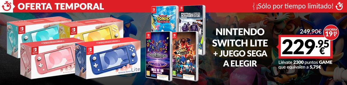 ¡Oferta! Nintendo Switch Lite + juego