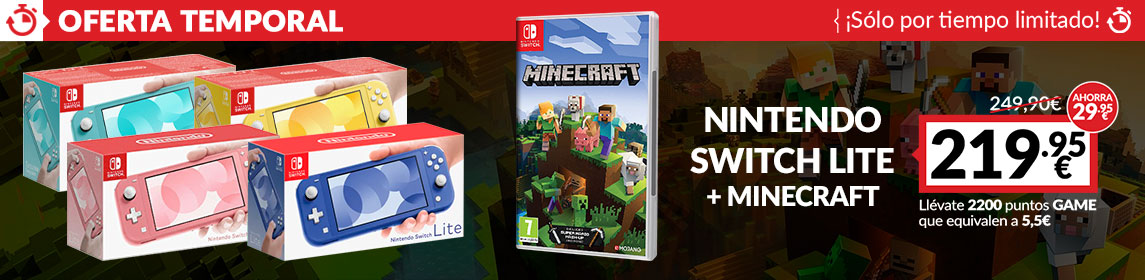 ¡Oferta! Nintendo Switch + Minecraft