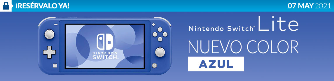 ¡Nueva! Nintendo Switch Lite Azul