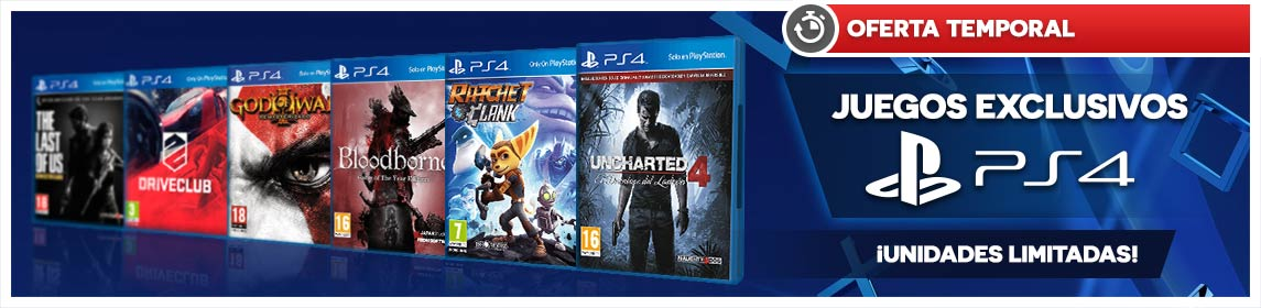 Ofertas Juegos Exclusivos PS4
