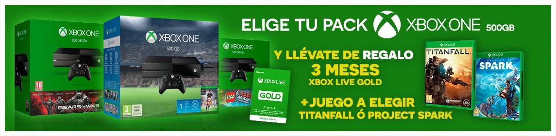 Packs Xbox One 500Gb + Juego a Elegir