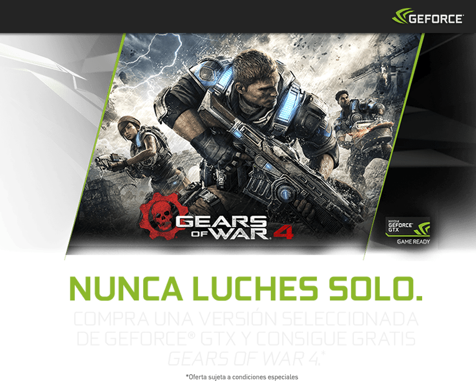 GeForce GTX Serie 10 y Gears Of War 4 en GAME España