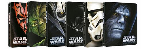 Películas de Star Wars con caja metálica