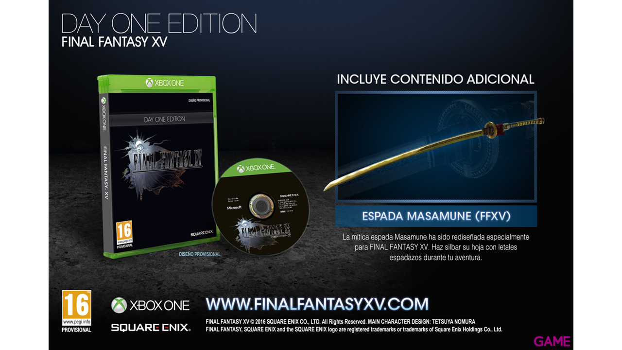 Final Fantasy XV Edición Day One