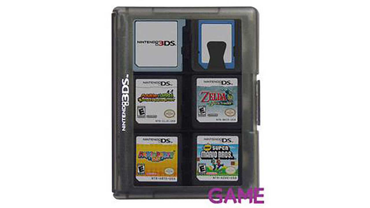 Estuche Negro 24 juegos NDS-3DS Hori -Licencia oficial Nintendo-