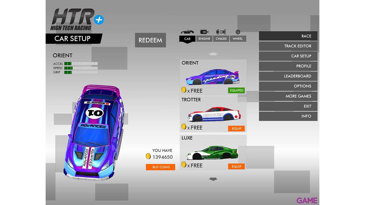 HTR + Slot Car Simulation