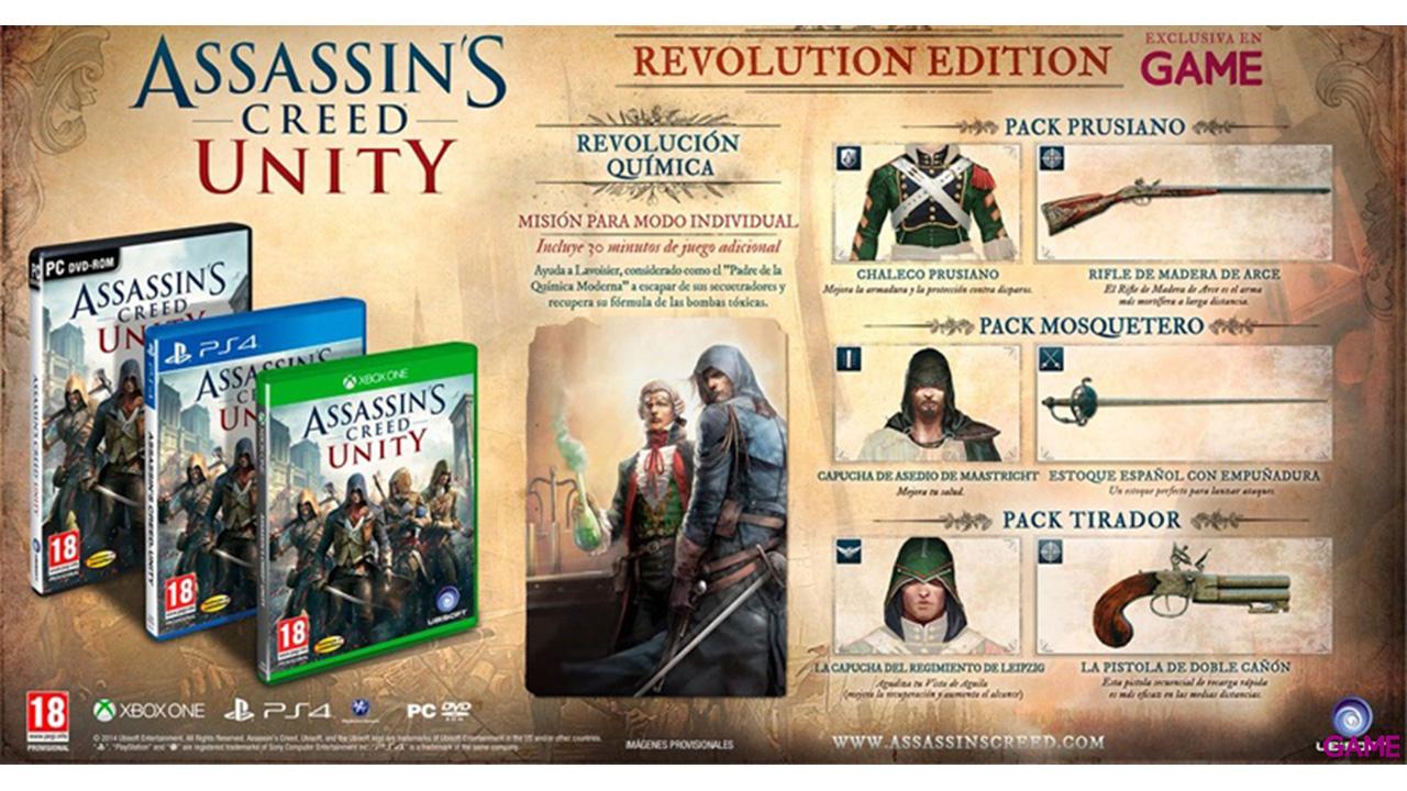 Assassin's Creed Unity Edicion Especial