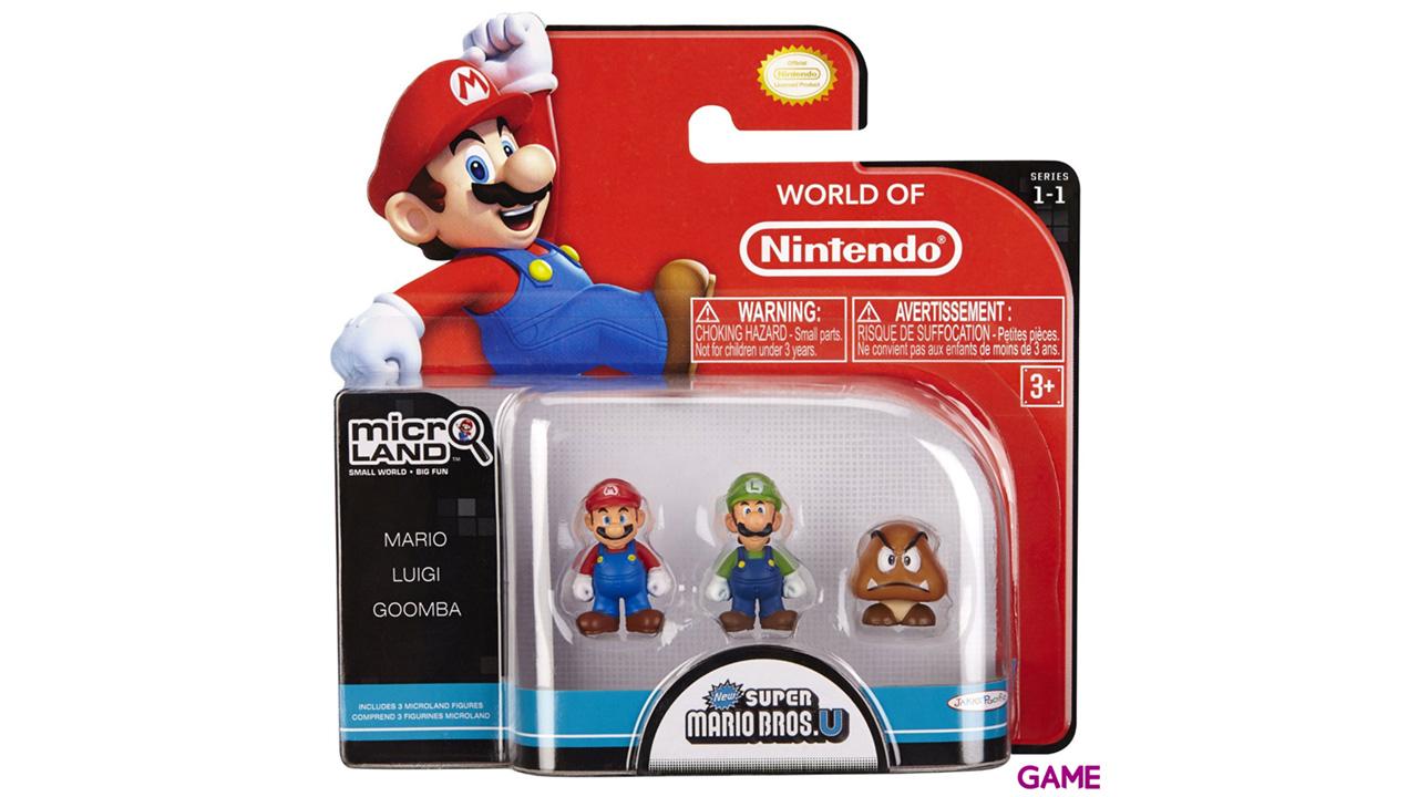 Pack de 3 Microfiguras Mario 2cm Serie 1