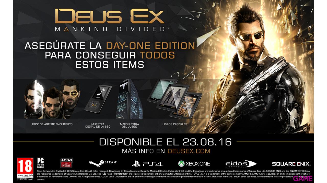 Deus ex: Mankind Divided Day One Edition