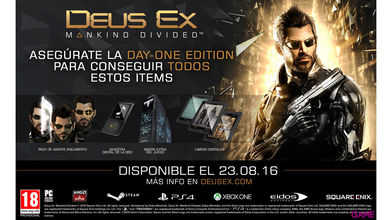 Deus ex: Mankind Divided Limited Edition